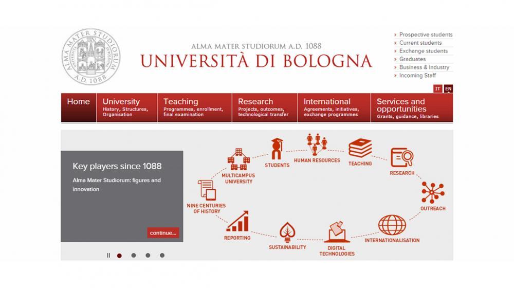 Program mobilnosti Outgoing student  na University of Bologna