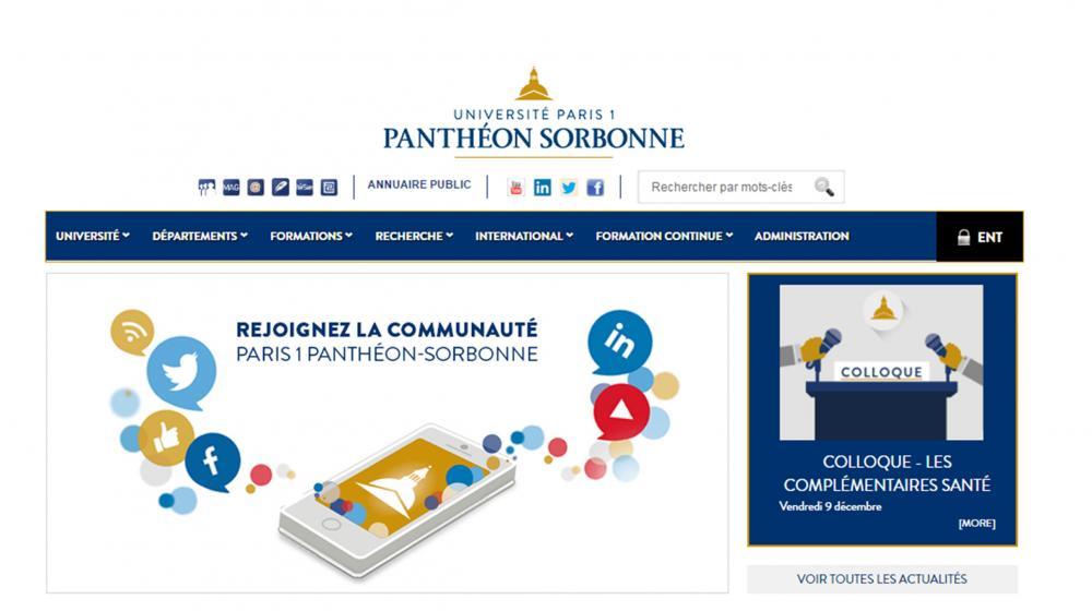 Конкурс за пријаву за програм мобилности Outgoing student на University Paris 1 Panthéon- Sorbonne, (France)